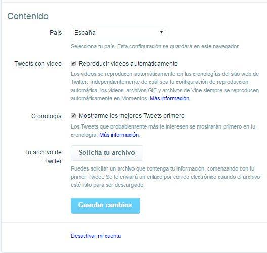 Backup Twitter