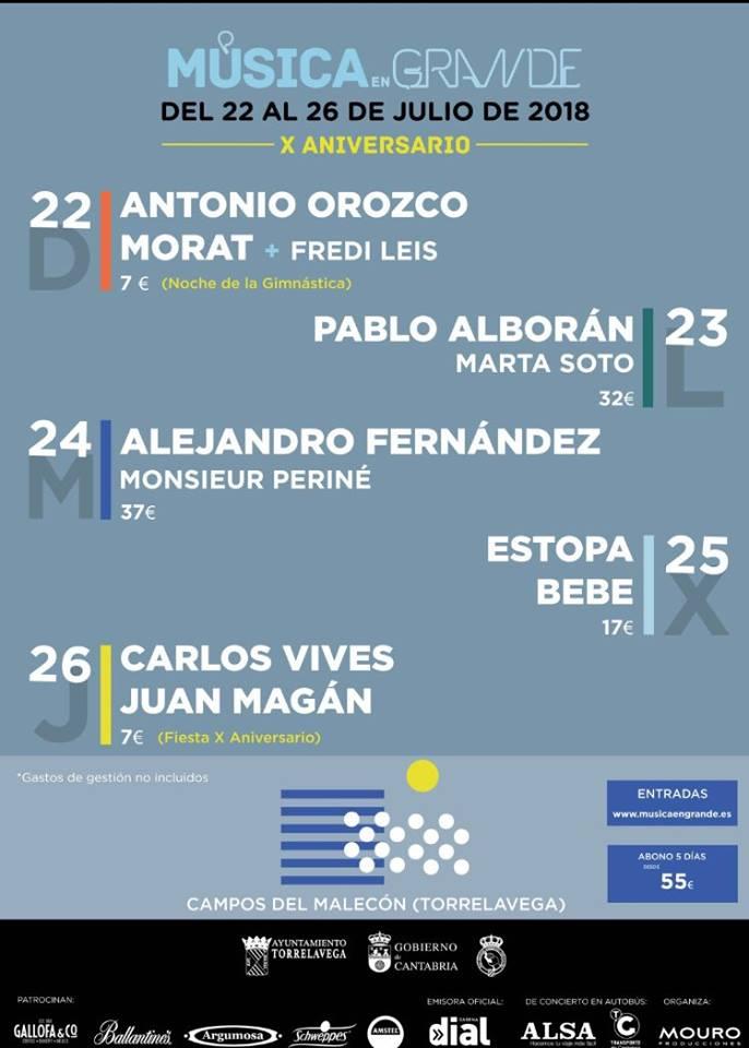 conciertos de la Semana Grande de Santander